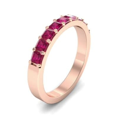 Shared-Prong Princess-Cut Ruby Ring (0.36 Carat)