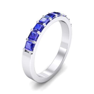 Shared-Prong Princess-Cut Blue Sapphire Ring (0.36 Carat)