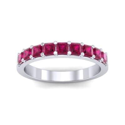 Shared-Prong Princess-Cut Ruby Ring (0.36 Carat)