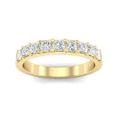 Shared-Prong Princess-Cut Diamond Ring (0.54 Carat)