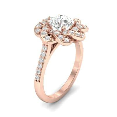 Woven Halo Diamond Engagement Ring (1.28 Carat)