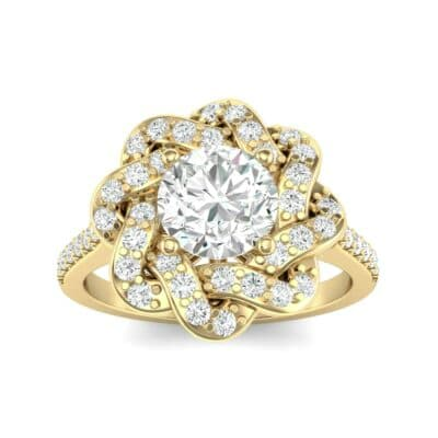 Woven Halo Diamond Engagement Ring (1.28 Carat)
