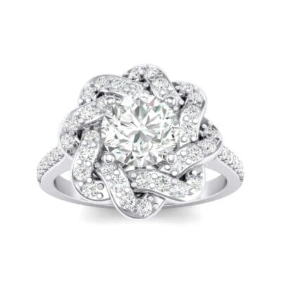 Woven Halo Crystals Engagement Ring (1.28 Carat)