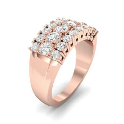 Tapered Three-Row Diamond Ring (1.3 Carat)
