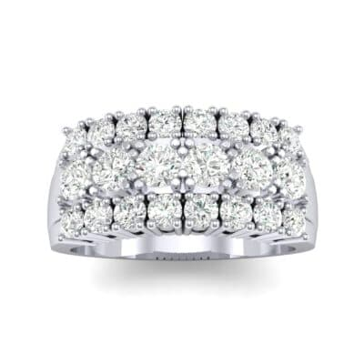 Tapered Three-Row Diamond Ring (1.3 Carat)