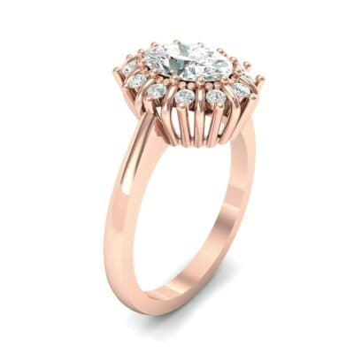 Regal Halo Diamond Engagement Ring (0.94 Carat)