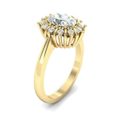 Regal Halo Diamond Engagement Ring (0.94 CTW) Perspective View
