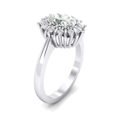 Regal Halo Crystals Engagement Ring (0.94 Carat)