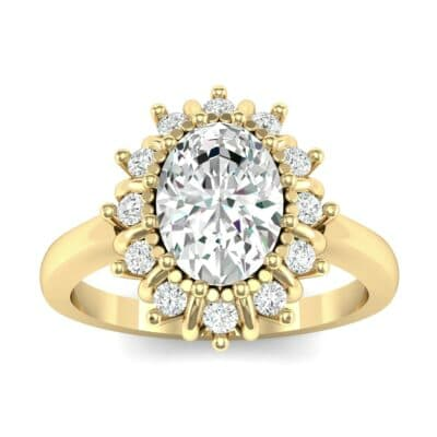 Regal Halo Diamond Engagement Ring (0.94 CTW) Top Dynamic View