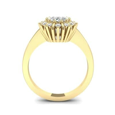 Regal Halo Diamond Engagement Ring (0.94 CTW) Side View