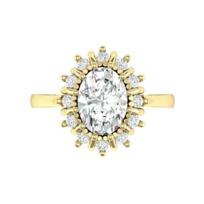Regal Halo Diamond Engagement Ring (0.94 CTW) Top Flat View