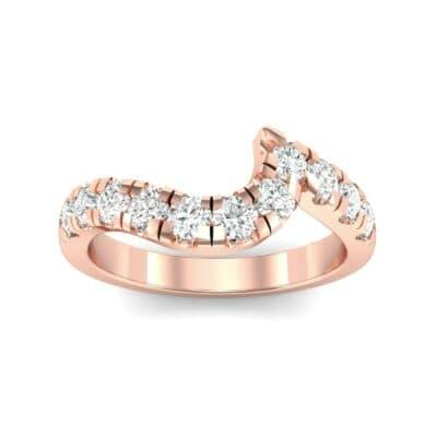 Asymmetrical Wave Pave Diamond Ring (0.7 Carat)