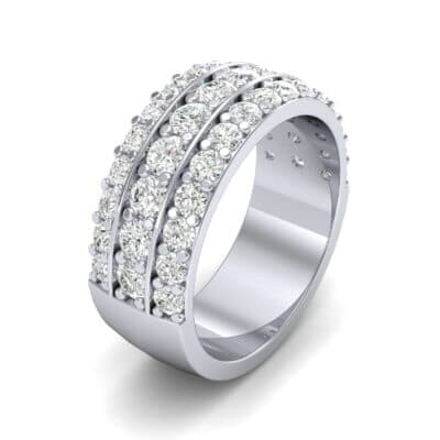 Wide Three-Row Diamond Ring (1.62 CTW) Perspective View