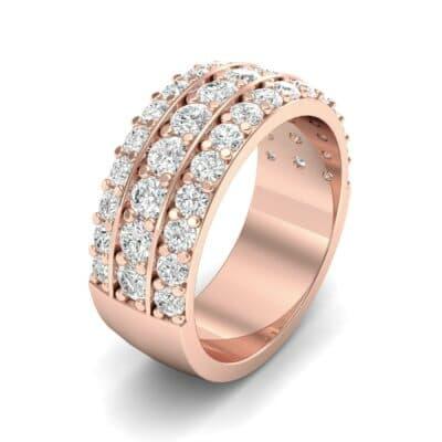Wide Three-Row Diamond Ring (1.62 Carat)