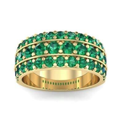 Wide Three-Row Emerald Ring (2.22 Carat)