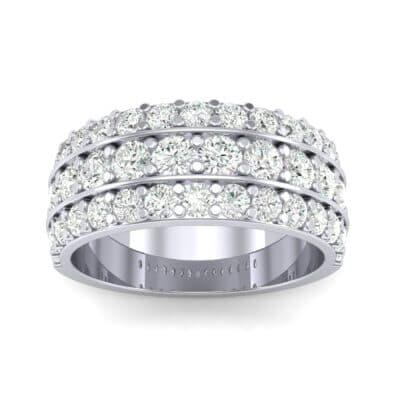 Wide Three-Row Diamond Ring (1.62 CTW) Top Dynamic View