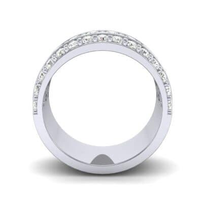 Wide Three-Row Diamond Ring (1.62 CTW) Side View