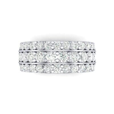 Wide Three-Row Diamond Ring (1.62 CTW) Top Flat View