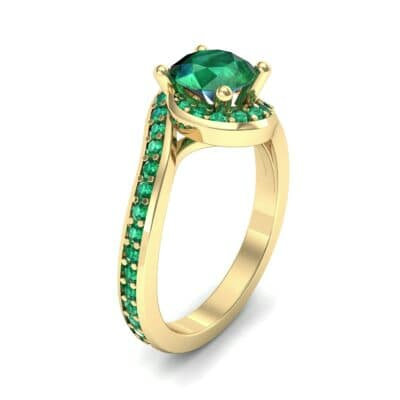 Embrace Pave Emerald Bypass Engagement Ring (1.52 Carat)