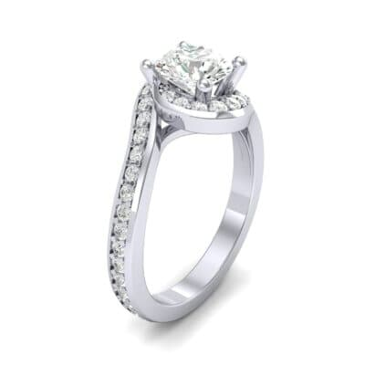 Embrace Pave Diamond Bypass Engagement Ring (1.07 Carat)