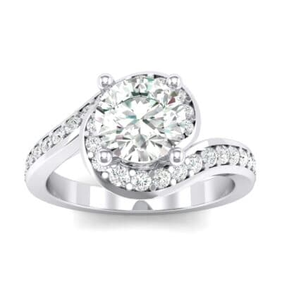 Embrace Pave Crystals Bypass Engagement Ring (1.07 Carat)