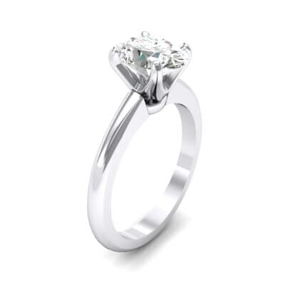 Modern Tulip Oval Solitaire Crystal Engagement Ring (1.2 CTW)