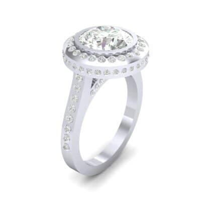 Vintage Halo Bezel-Set Diamond Engagement Ring (1.63 Carat)