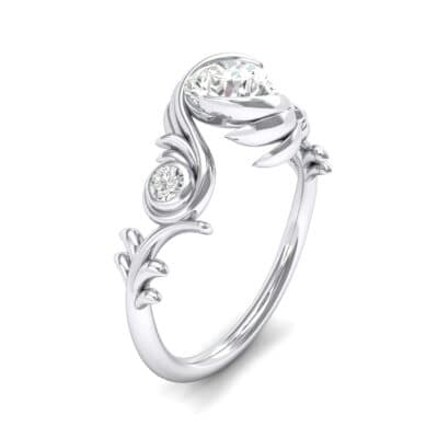 Sunflower Three-Stone Crystals Engagement Ring