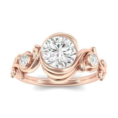 Sunflower Three-Stone Diamond Engagement Ring (0.74 Carat)