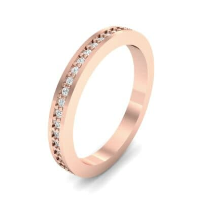 Thin Flat-Sided Pave Diamond Eternity Ring (0.47 Carat)