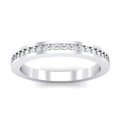 Thin Flat-Sided Pave Crystals Eternity Ring (0.47 Carat)