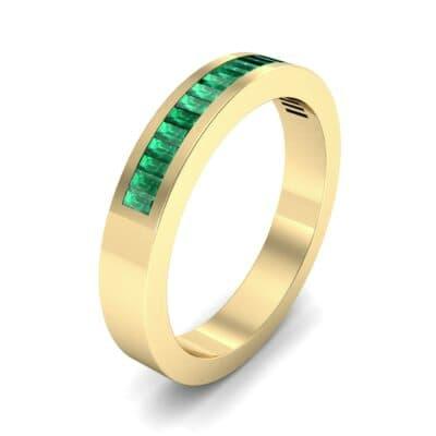 Channel-Set Baguette Emerald Ring (0.6 Carat)