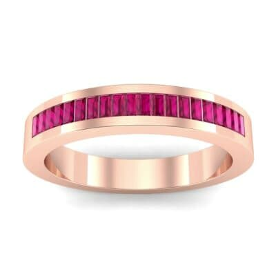 Channel-Set Baguette Ruby Ring (0.6 Carat)