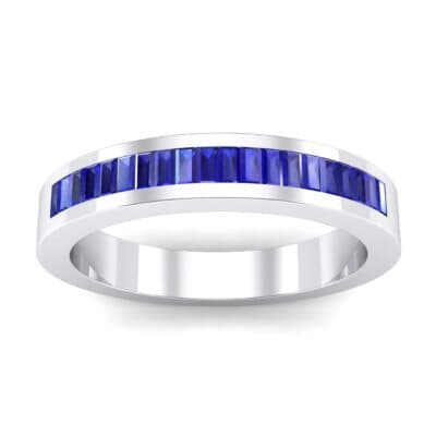 Channel-Set Baguette Blue Sapphire Ring (0.6 Carat)