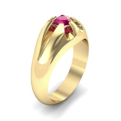 Rosebud Solitaire Ruby Engagement Ring (0.7 Carat)