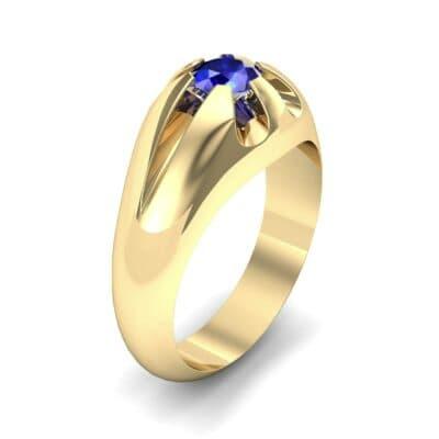 Rosebud Solitaire Blue Sapphire Engagement Ring (0.7 Carat)
