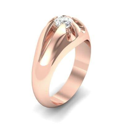 Rosebud Solitaire Diamond Engagement Ring (0.46 Carat)