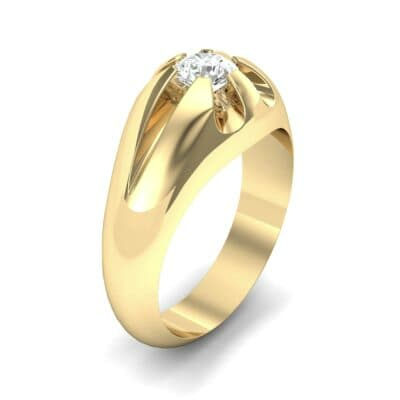 Rosebud Solitaire Diamond Engagement Ring (0.46 Carat)