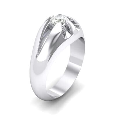 Rosebud Solitaire Crystal Engagement Ring (0.46 CTW)