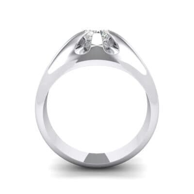 Rosebud Solitaire Crystal Engagement Ring (0.46 CTW) Side View