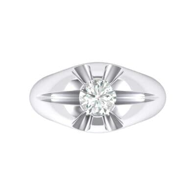 Rosebud Solitaire Crystal Engagement Ring (0.46 CTW) Top Flat View