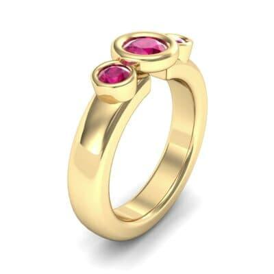 Mod Bezel Three-Stone Ruby Engagement Ring (1.1 Carat)