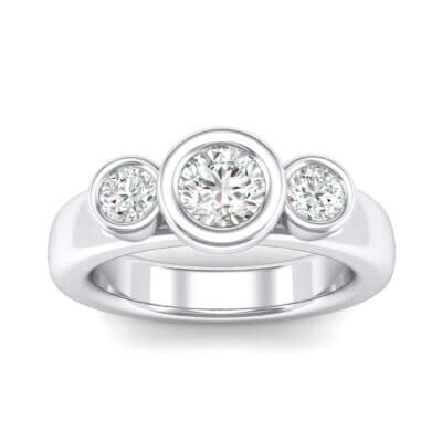 Mod Bezel Three-Stone Crystals Engagement Ring