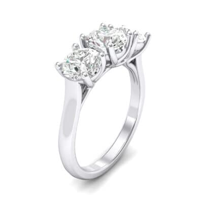 V Basket Trilogy Crystal Engagement Ring (1.2 CTW)