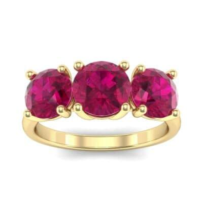 V Basket Trilogy Ruby Engagement Ring (2.6 Carat)