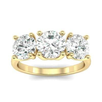 V Basket Trilogy Diamond Engagement Ring (1.96 Carat)