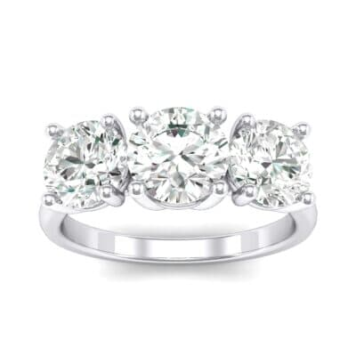 V Basket Trilogy Crystal Engagement Ring (1.2 CTW) Top Dynamic View