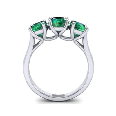V Basket Trilogy Emerald Engagement Ring (2.6 CTW) Side View