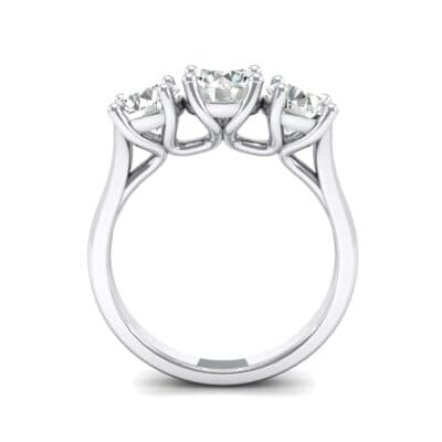 V Basket Trilogy Crystal Engagement Ring (1.2 CTW) Side View