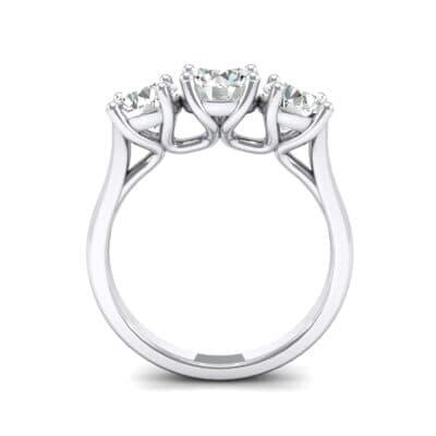 V Basket Trilogy Diamond Engagement Ring (1.96 CTW) Side View